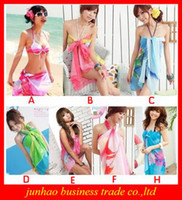 Wholesale Swimwear Sexy Pareo Dress Hot Sarong Beach Bikini Cover Up Scarf Wrap Swim Beach Beautiful Charming