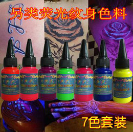 Wholesale tattoo ink that glows in purple light colors ml bottle