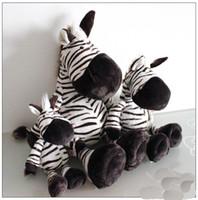 Wholesale NICI Zebra soft toys nici black mouth zebra horse cm plush toys stuffed dolls cute gift