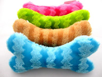 bb bone - Colored stripes cute bones pet plush voice toy dog BB toy cm g color