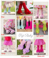 Wholesale Baby Girls Infant Toddler Vintage Lace Leg Warmers Topbaby Stretch Lace leg warmers Dance For summer