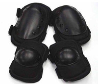Wholesale SWAT Tactical Skateboard Paintball Knee amp Elbow Pads BK free ship