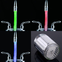 Wholesale 10pcs Glow LED Light Water Faucet Tap Automatic Colors Change No Battery free ship