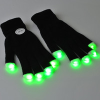 7 Mode LED Rave Light Safety Gloves  2pcs Flashing Gloves Glow 7 Mode LED Rave Light Finger Lighting Mitt dancing party free ship