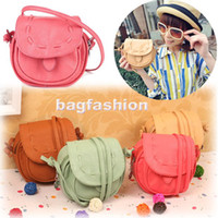 Wholesale Korea Girls Handmade Musette Drum leather bag Pattern Small Shoulder bag messenger Handbag