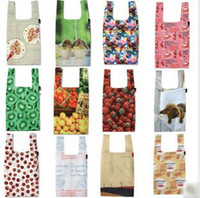 Wholesale Sale Eco Friendly Shopping Bag Bags Middle Size Patterns Folded Portability
