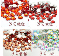 Wholesale 10000pcs tangent plane mm Nail Rhinestone amp Decoration Colors Mixed