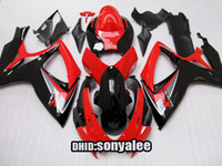 Wholesale Body for GSXR600 GSXR750 GSXR Fairing black red free gift