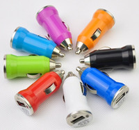Wholesale Mini Car Charger Usb Charger Cigaratte Lighter Adapter for iphone G Colors