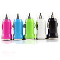 Wholesale Universal Colorful Mini USB Car Charger Adapter for iphone S Cell Phone PDA MP3 MP4 Tablet pc New