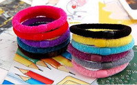 Wholesale Rubber band hair rope cotton wild multicolor headband hair clip hair accessories
