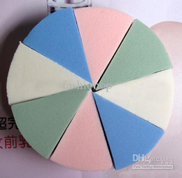Wholesale 2012 Colorful Makeup Puff Circular Type Natural Sponges Beauty Powder Puff set JKMR
