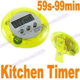 20шт K50 5-цветная мини Цифровые кухонные Count Down Up ЖК Клип Таймер сигнализация Кухня Перерыв