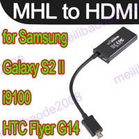 Wholesale 6pcs K51 Micro USB MHL to HDMI Cable Adapter for Samsung Galaxy S2 II i9100 HTC Flyer G14