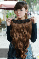 Wholesale Hair Extension Women s Long Curl Curly Wavy colors Clips On sexy stylish W002