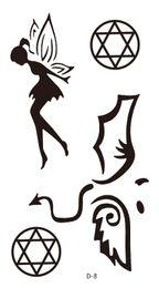 Wholesale Tattoo Newstyle Waterproof Hexagram Totem Little Fairy Tattoo Design Temporary Body Tattoos