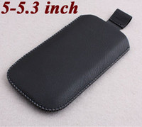 Leather For Chinese Brand  PU Sleeve Leather Case for 4.7 inch 5 inch 5.3 inch N8000 N9000 X710d N9770 Tablet mobile Phone Case