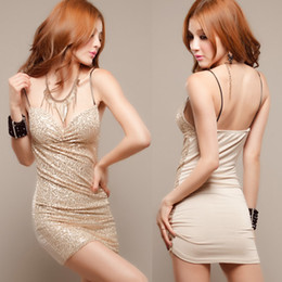 Wholesale women s party clubwear fashion slim nightclub sexy sequined wrap evening dress JA395