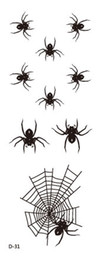 Wholesale Tattoo Newstyle Waterproof Fashion Black Spider Web Tattoo Design Temporary Body Tattoos