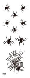 Wholesale Tattoo Newstyle Waterproof Fashion Black Spider Web Tattoo Design Temporary Body Tattoos