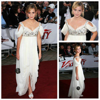 Wholesale Hot Selling Beaded Strappy Movie Awards Hi lo Celebrity Dresses Gorgeous White Prom Dresses
