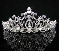 Crown Rhinestone/Crystal  Wedding Bridal crystal veil tiara crown headband