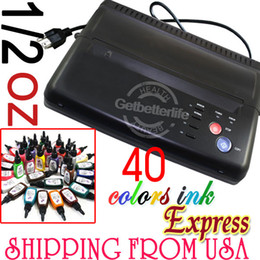 Wholesale HOT Black Tattoo Thermal Stencil Transfer Copier Machine Color tattoo Ink Pigment USA warehouse