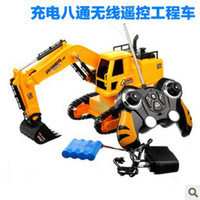 Wholesale Remote Dig Dug Machine Toy Remote Control Car truck wireless remote control excavator