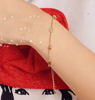 Wholesale Cgarming Gold Tone Copper Cute Star Heart Bracelet Anklet style mix girl s jewelry