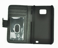 Wholesale For Galaxy S2 Wallet Leather Case Cover Photo Frame Credit Card Slots For Samsung I9100