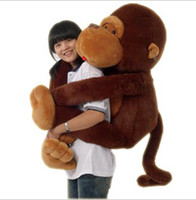 "monkey brown 8-11 Years 51"" Big Mouth Monkey Pillow PP Cotton Stuffed Monkeys Animals Christmas Gifts Plush Toys Doll"