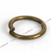 Wholesale 900 Open Jump Rings x6mm Antique Bronze Key Ring Chains Key Chain Rings Copper Loop Findings