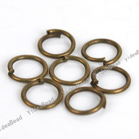 Wholesale 1500 Open Jump Rings x4mm antique bronze Ring Chains Key Chain Rings Copper Loop Findings