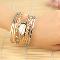 Wholesale Luxury lady Glamour Charm Bangle Bracelet watch Fashion women tone Quartz wrist Watch H8607