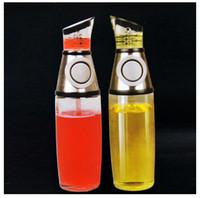 Wholesale Hot Press amp Measure Oil Vinegar Bottle Oilcan Dispensador Dispenser ml EMS Free
