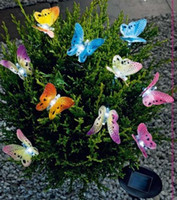 IP65 Garden  20LED solar string light with buterfly Solar butterfly string light for chrismas decorative Free shi