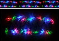 Wholesale SOLAR powered string LED BUTTERFLY LIGHTS FIBRE fiber OPTIC GARDEN