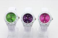 Blanco Bandas + Colores Caras Silicona Jalea Reloj Moda Niños 38MM Candy Quartz relojes 100pcs