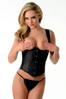 Wholesale Sexy Rubber Look quot Pamela quot Underbust Bodice Corset Includes Front Busk Opening And Matching G String