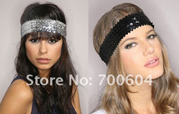 Wholesale Fashion Elastic Sequins Hair Band Women s Paillette Headband Hair Accessories original factory suppl