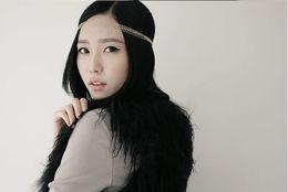 Lady elegant headband gold tassels weaving multi-layer alloy chain hairband hair bow Hair Comb Cuff