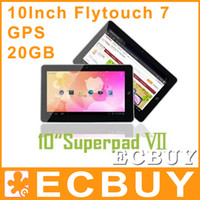 Wholesale 10 inch Flytouch SuperPAD GPS Tablet PC Android Allwinner A10 G G GB Tablets Vedio chat