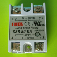 Wholesale 80A SSR SOLID STATE RELAY DC AC