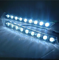 other other  NEW A Pair Of White Water Proof 4.5W Car Auto Day Drive Daytime Running 9 LED Lights GA304