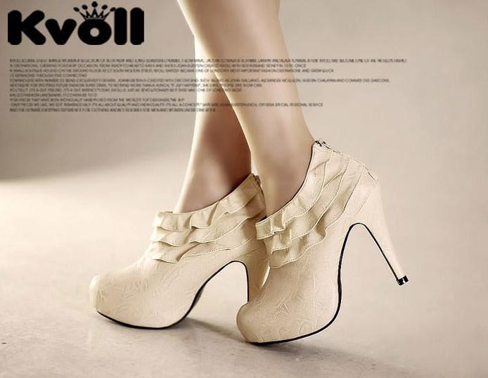 s shoes 2010 Sexy Round Toe Zipper Heels Ankle Wholesale Women's