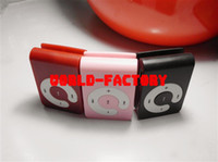 Wholesale DHL Mini Clip Mp3 player C Button clip card mp3 player support GB GB GB TF card colors