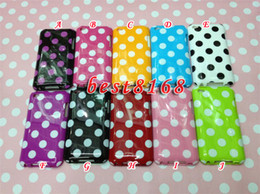 Wholesale TPU soft Silicone case skin circle polka dots back Cases for iPod itouch Touch th G g TH g Cover Skin Case