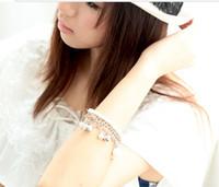 Women Chain Bracelet Bohemian White Pearl Personality Fashio...