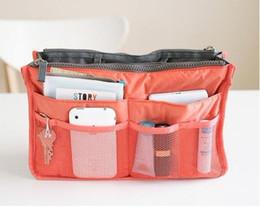 10 pcs Women Travel Insert Handbag Organiser Purse Large liner Organizer Tidy Bag Pouch pink