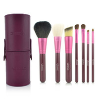 Sable Hair Woody Kabuki hot sell Set 7Pcs Professional Makeup Cosmetic Brush Set Kit Tool With cylinder box #1264-7